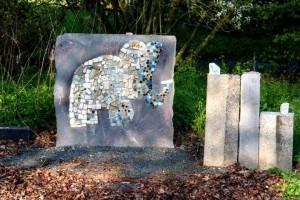 Bild Mosaik Elefant